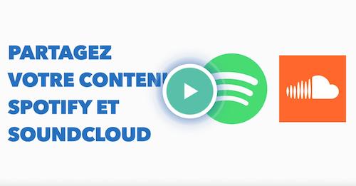 partagez musique spotify soundcloud sur instagram en bio